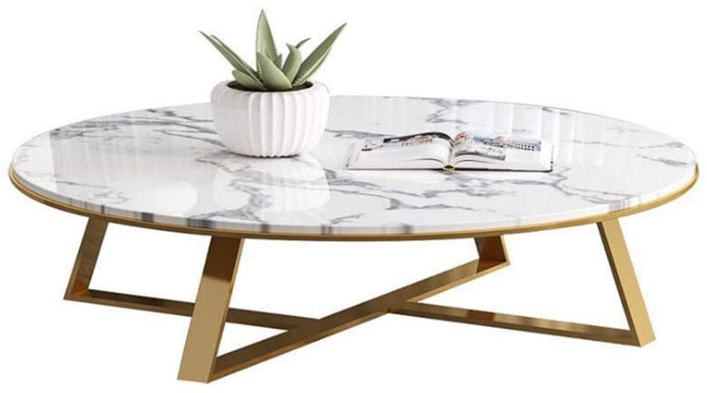 Table basse marbre et dorée